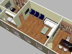 הדמיה פרויקט בניה מודולרית